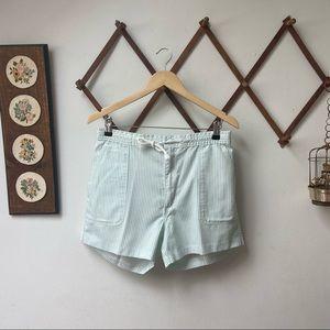 Vintage Striped Summer Shorts